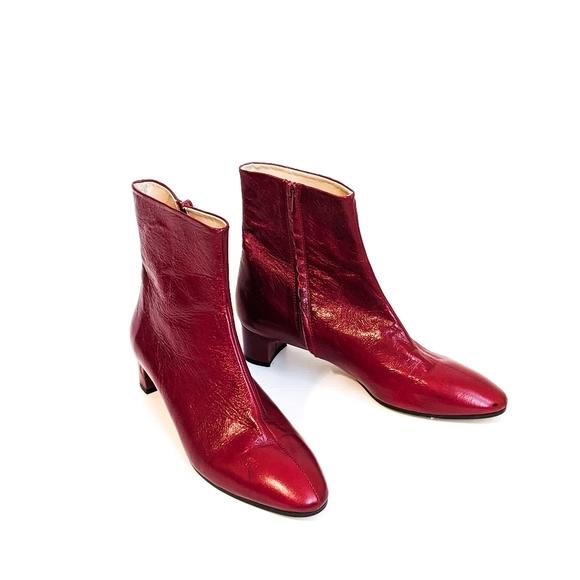 leather block heel chelsea boots